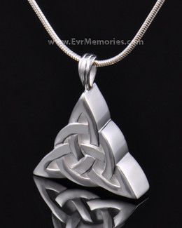 Sterling Silver Celtic Cherished Triangle Keepsake Jewelry