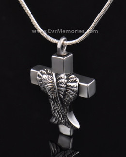 Sterling Silver Angelic Cross Cremation Charm
