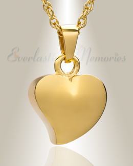 Gold Plated Dear Heart Ash Jewelry