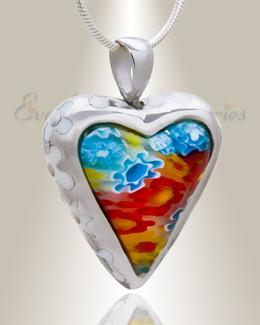 Sterling Silver Opulence Heart Ash Keepsake