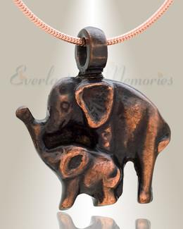 Night Elephants Cremation Jewelry