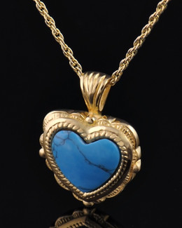 Gold Plated Turquoise Heart Jewelry