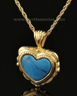 14k Gold Turquoise Heart Jewelry