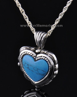 Sterling Silver Heart Turquoise Jewelry Pendant