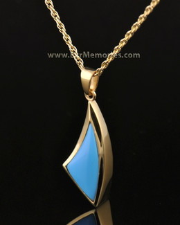 14k Gold Turquoise Sail Away Jewelry Urn