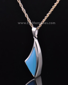 Sterling Silver Turquoise Sail Away Funeral Jewelry