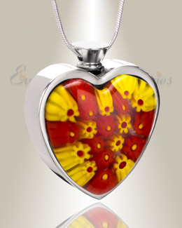 Sunrise Mornings Heart Cremation Locket