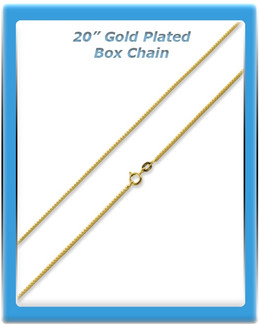 Gold Plated Box Chain - 20""