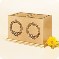 Double Wreath Companion Cremation Urn