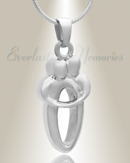 Sterling Silver Two People Urn Necklace