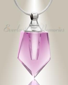Glass Locket Pink Dedicated Keepsake Jewelry