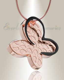 Rose Gold Wakeful Butterfly Urn Pendant