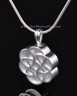 Sterling Silver Celtic Flower Cremation Keepsake
