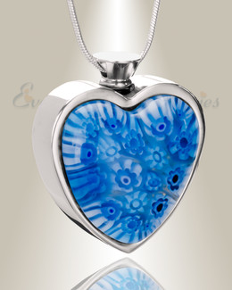 Transparent Waters Heart Cremation Locket