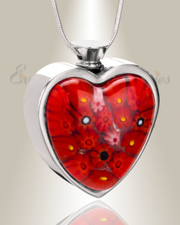 Embers of Love Heart Cremation Locket