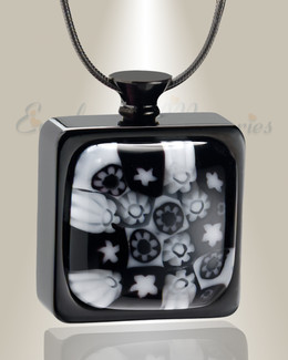 Black of Night Cremation Locket