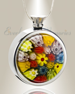 Endearing Fields Round Cremation Locket