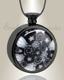 Raven Skies Round Cremation Locket