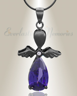 Black Heavenly Flight Cremation Jewelry