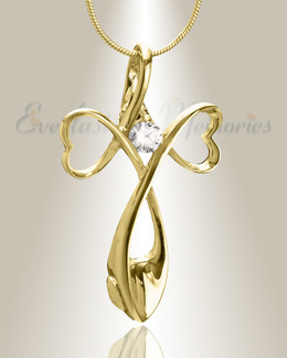 Gold Plated Peaceful Moments Cremation Jewelry