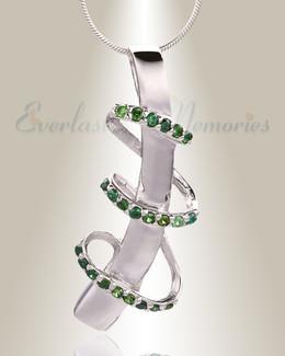 Green Trinity Memorial Jewelry