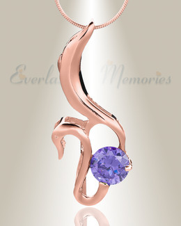 Rose Gold Simple Adoration Cremation Jewelry