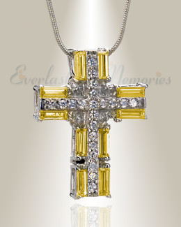 Hopeful Sunrise Cross Memorial Jewelry