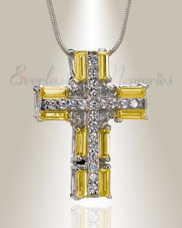 Hopeful Sunrise Cross Memorial Jewelry