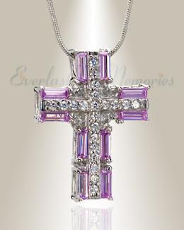 Pink Hopeful Sunrise Cross Memorial Jewelry
