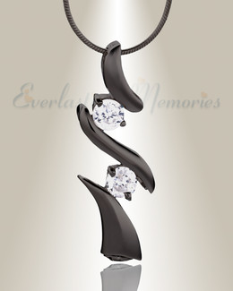 Black Blissful Moments Cremation Jewelry