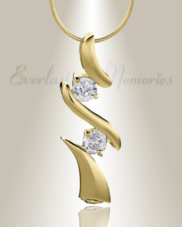 Gold Plated Blissful Moments Cremation Jewelry