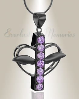 Black Joyful Feelings Cremation Jewelry