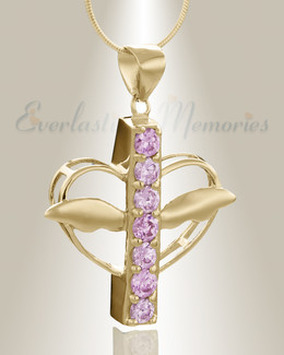 Gold Plated Joyful Feelings Cremation Jewelry