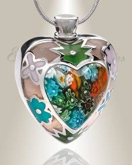 Lavish Heart Cremation Jewelry
