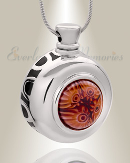 Fleeting Fancy Round Cremation Jewelry