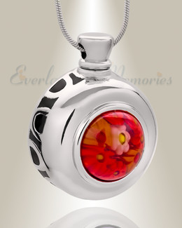 Gentle Round Cremation Jewelry