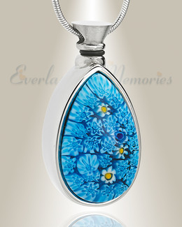 Boundless Blue Teardrop Cremation Jewelry
