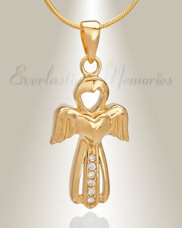 Gold Plated Virtuous Angel Memorial Jewelry