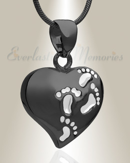 Black Plated Wandering Heart Memorial Jewelry
