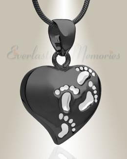 Black Plated Wandering Heart Memorial Jewelry