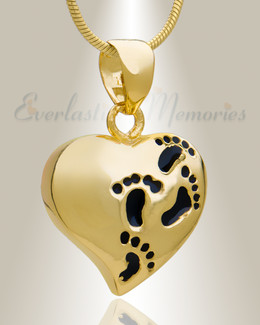 Gold Plated Wandering Heart Memorial Jewelry