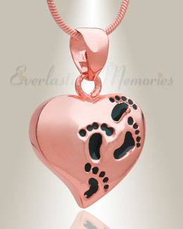 Rose Gold Plated Wandering Heart Memorial Jewelry