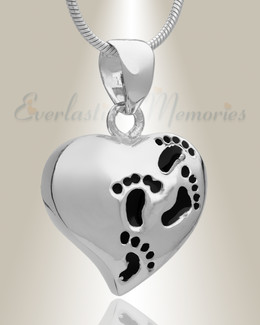 Silver Plated Wandering Heart Memorial Jewelry