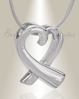 Folded Heart Memorial Jewelry