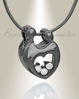 Black Plated Bound with Love Memorial Jewelry