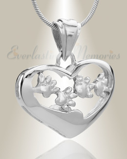Silver Willing Companion Pet Memorial Jewelry