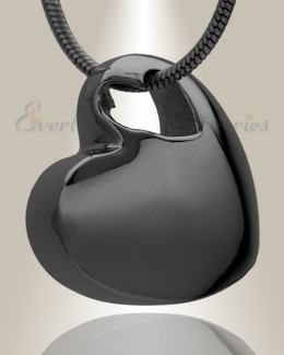 Small Candid Heart Black Plated Jewelry