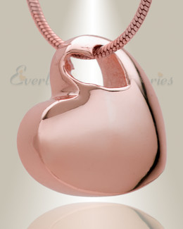 Small Candid Heart Rose Gold Plated Jewelry