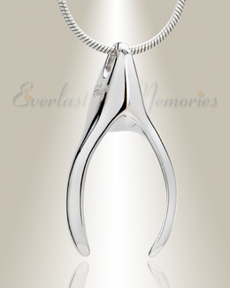 Silver Wishbone Memorial Jewelry