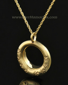 14k Gold Imprinted Devotion Round Jewelry